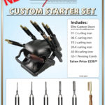 1 Elite Custom STARTER KIT 1 Elite Custom Stove ( 220V / 240V Plug Available) 1 STAND 1-02 Tapered Curling Iron 08-C 3/8″ Curling Iron 10-J 5/8″ Curling Iron 20-K 3/4″ Curling Iron 40-M 1″ Curling Iron GS-1 Smooth Back pressing comb