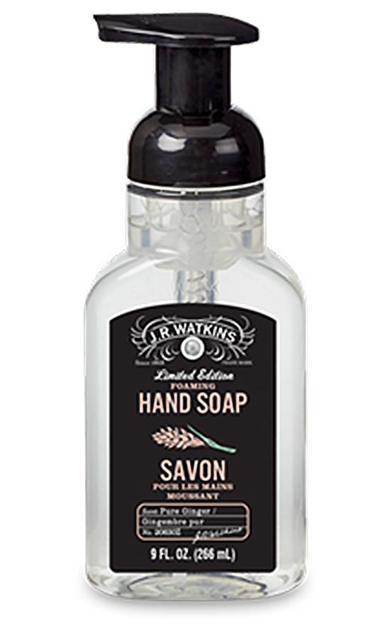 Pure Ginger Foaming Hand Soap 11 fl oz By J.R. Watkins