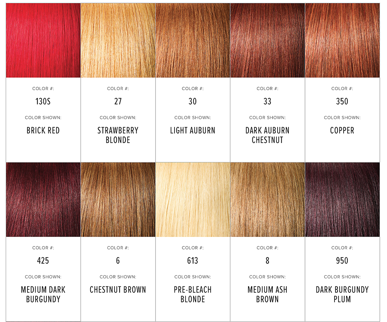Hair Color Chart All Eyes On Me Hair